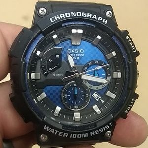 Casio Men's Watch w/ Chronograph and Blue Face